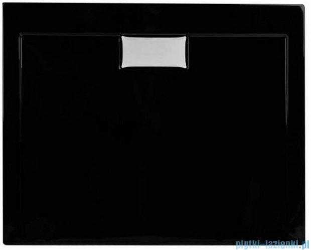 Polimat Comfort brodzik akrylowy posadzkowy 100x90 czarny mat 00186