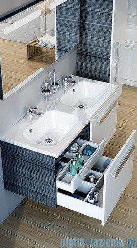 Ravak Umywalka Chrome 1200 biała z otworami 120x49 cm XJG01112000