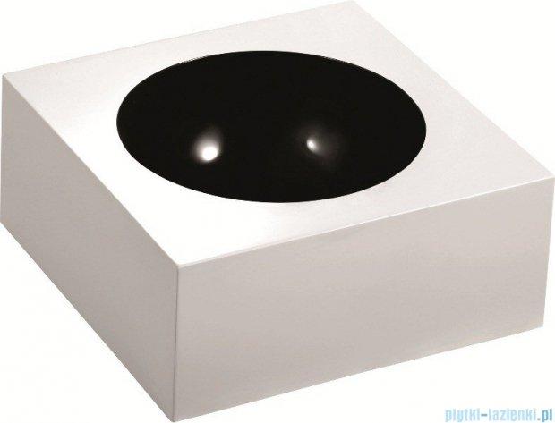 Marmorin Rea 40 umywalka nablatowa bez otworu biała / czarna miska 201040020010