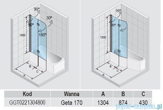 Riho Nautic N500 parawan nawannowy Geta 130x150cm GGT0221304800