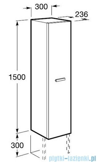 Roca Victoria Kolumna 150cm obustronna z półkami orzech A856577222