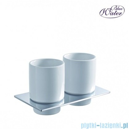 Blue Water Hugo uchwyt z dwoma szklankami chrom HUG-016