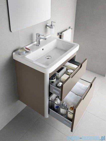 Roca Dama-n Unik 85 zestaw łazienkowy z 2 szufladami Szary antracyt połysk A851048153