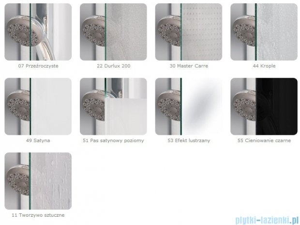 SanSwiss Eco-Line Drzwi 2-częściowe Ecp2 100cm profil połysk szkło przejrzyste ECP210005007