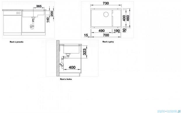 Blanco Subline 700-U Level zlewozmywak Silgranit PuraDur  kolor: alumetalik  z k. aut. 518382