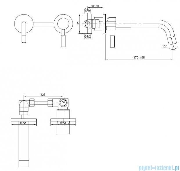 Kohlman Roxin bateria umywalkowa 2-otworowa podtynkowa QW180R