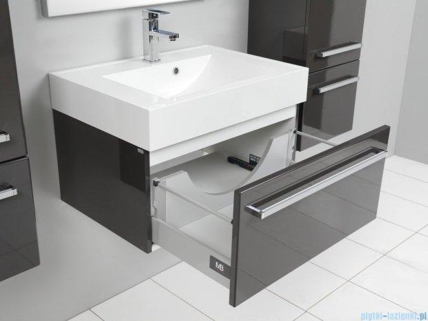 Antado Spektra szafka z umywalką, wisząca 70x50x33 szary połysk wolfram grey FDF-442/7GT-56 + UNA-700