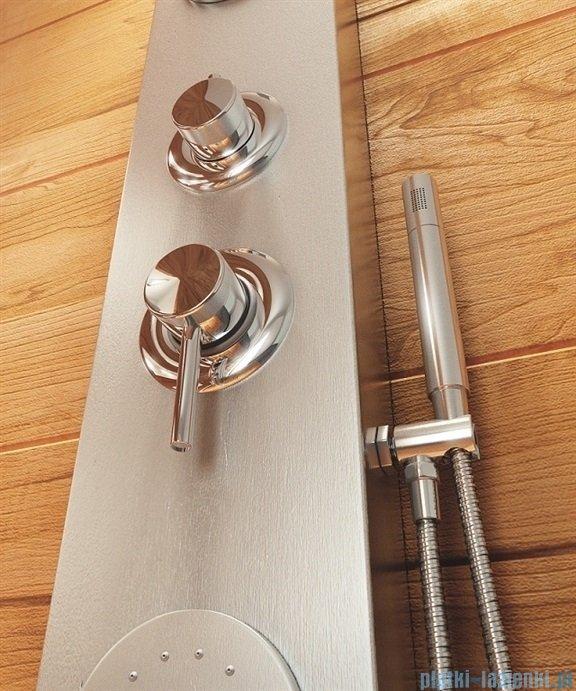 Rea panel natryskowy aluminiowy z mieszaczem satyna 8721Satyna