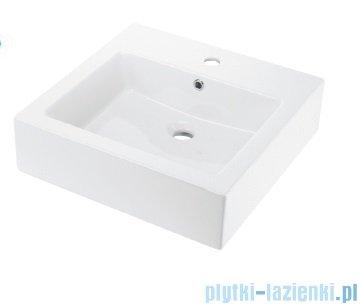 Deante Anemon Umywalka 50x50cm cm stawiana na blat Biała CDZ 6U5S