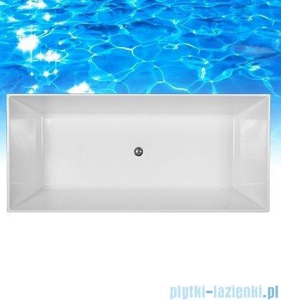 Omnires London wanna 175x80cm wolnostojąca biała połysk MARBLE+LONDON175BP