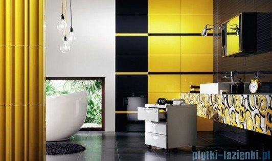 Mozaika ścienna prostokątna Tubądzin Colour Gray 32,7x29,5