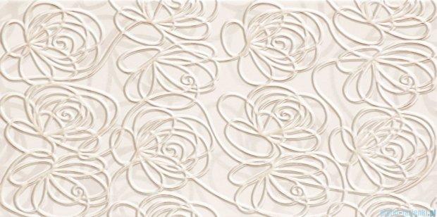 Tubądzin Wave modern white dekor ścienny 22,3x44,8
