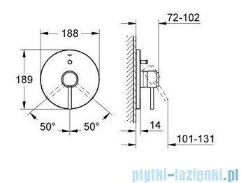 Grohe Atrio jednouchwytowa bateria wannowa chrom 19459001