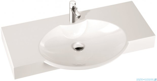 Marmorin umywalka nablatowa Carme 98, 98 cm z otworem biała 260098020011