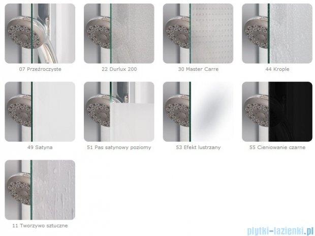 SanSwiss Pur PUT52P Ścianka boczna do kabiny 5-kątnej 30-100cm profil chrom szkło Krople PUT52PSM11044
