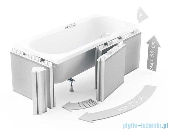 Zabudowa styropianowa elastyczna Schedpol z rantem 15cm do wanien 1.052