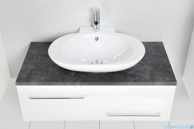 Antado Susanne szafka z umywalką Mia biała/blat grafit 95x46cm AS-140/95-WS+AS-B/1-140/95-73+UCS-TC-60