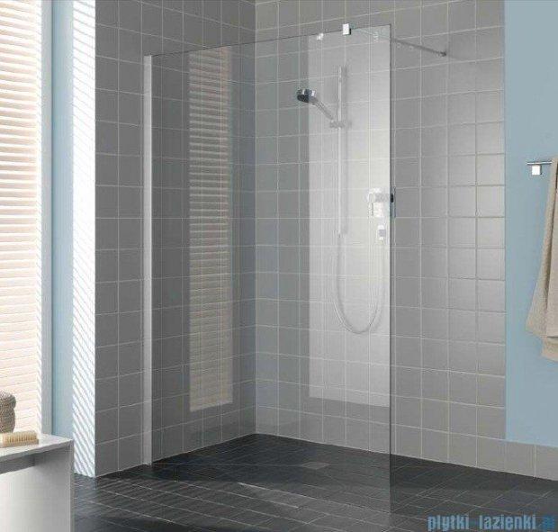 Kermi Filia Xp Ściana Walk-in Wall, stabilizator 90/przezroczyste KermiClean, profile srebrne 120x200cm FXTWF12020VPK