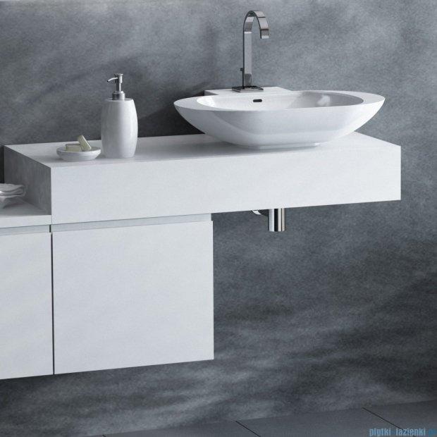 Antado Combi szafka lewa z blatem prawym i umywalką Mia biały/ciemne drewno ALT-141/45-L-WS/dp+ALT-B/1R-1000x450x150-WS+UCS-TC-60