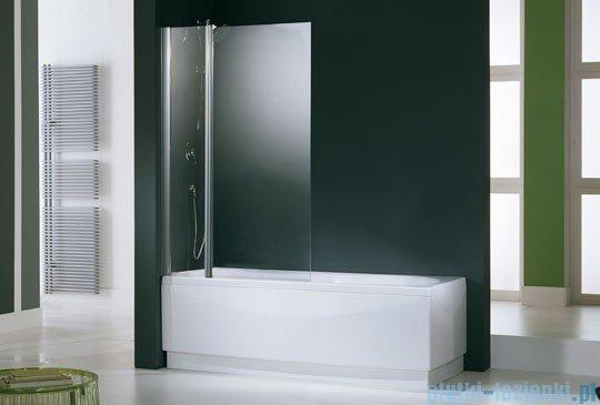 Novellini Parawan Aurora3 98x150cm profil chrom szkło aqua AURORAN3-2K