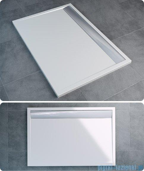 SanSwiss WIA Brodzik konglomeratowy prostokątny 90x160cm czarny/biały WIA9016004154