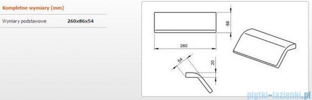 Sanplast zagłówek żelowy 26x8,6cm czarny 661-A0024-43