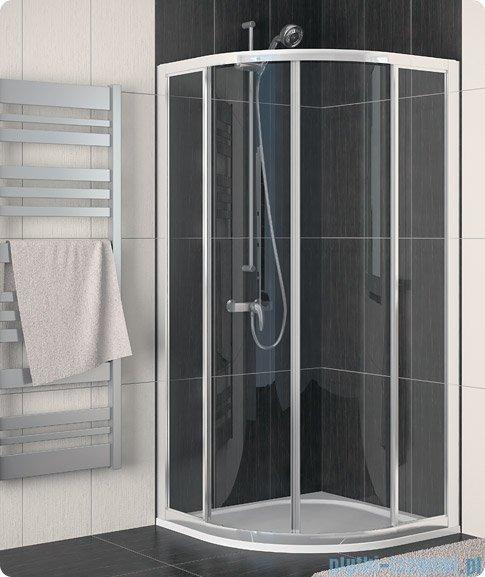 SanSwiss Eco-Line Kabina półokrągła Ecor 100cm profil połysk szkło przejrzyste ECOR501005007
