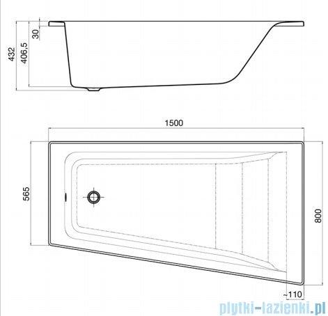 Roca Easy wanna 150x80cm prawa z hydromasażem Effects Titanium A24T282000