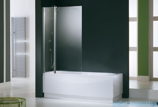 Novellini Parawan Aurora3 98x150cm profil biały szkło satyna AURORAN3-4A