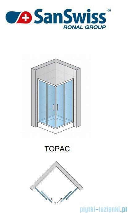 SanSwiss Top-Line TOPAC Wejście narożne 120cm profil biały Prawe TOPD12000407