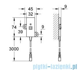 Grohe Veris F-digital Antena 36356000
