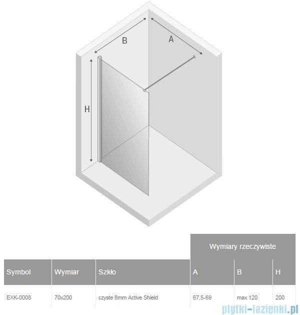 New Trendy New Modus kabina Walk-In 70x200 cm przejrzyste EXK-0008