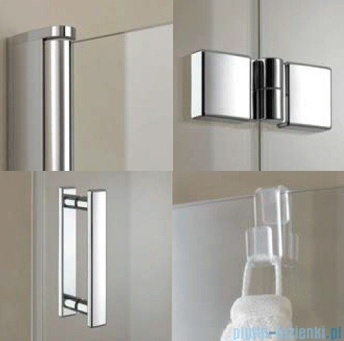 Kermi Diga Drzwi wahadłowo-składane do ściany bocznej, lewe, szkło przezroczyste, profile białe 110x200 DI2SL110202AK