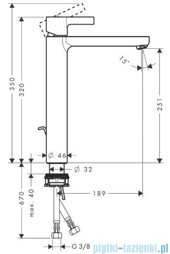 Hansgrohe Metris S Jednouchwytowa bateria umywalkowa do misek umywalkowych 31023000