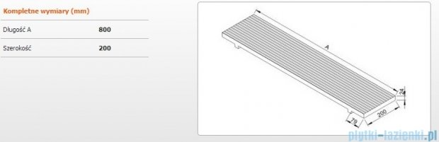 Sanplast półka do wanien 80x20cm meranti 661-A0018-19