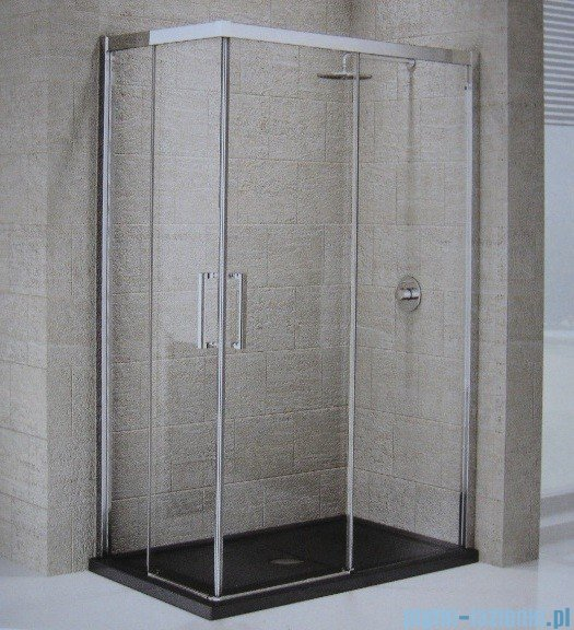 Novellini Elysium Kuadra A Ścianka prysznicowa 90cm prawa szkło przejrzyste profil chrom KUADA90LD-1K