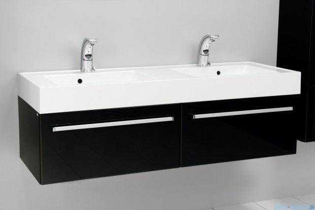 Antado Variete szafka z umywalką, wisząca 140 czarny połysk FM-442/7GT-9017 + FM-442/7GT-9017 + UNAM-1404D