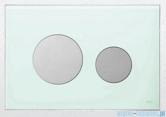 Tece Przycisk spłukujący ze szkła do WC Teceloop szkło zielone przyciski chrom matowy 9.240.652