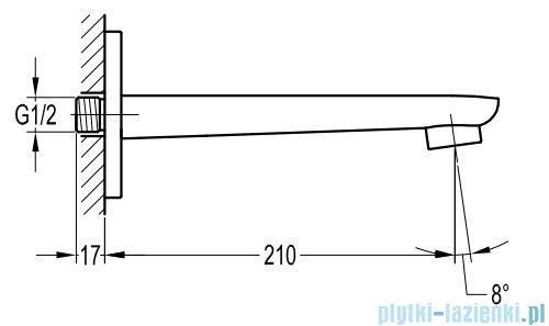Omnires Hudson wylewka ścienna 21cm chrom Z23