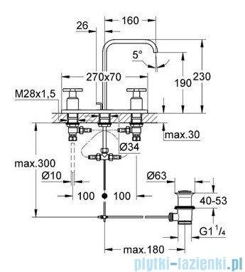 Grohe Allure 3-otworowa bateria umywalkowa DN 15 chrom 20143000