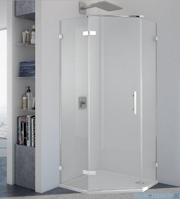 SanSwiss Pur PUR51 Drzwi 1-częściowe do kabiny 5-kątnej 45-100cm profil chrom szkło przezroczyste Lewe PUR51GSM21007