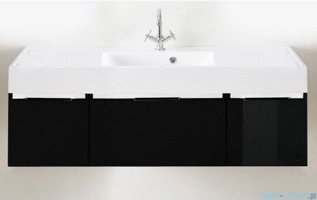 Antado Cantare szafka z umywalką 140x50x33 czarny połysk 2xFSM-342/4GT-48/48+FSM-342/6GT-48/48+UNAM-1404C
