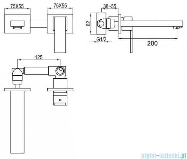 Kohlman Excelent podtynkowa bateria umywalkowa QW183H
