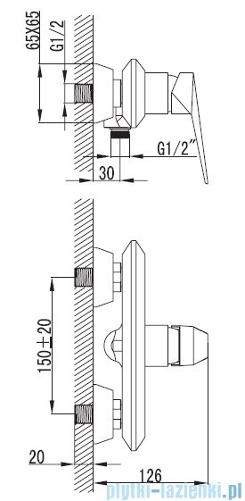 Art Platino Rok bateria prysznicowa chrom ROK-BPK.030C