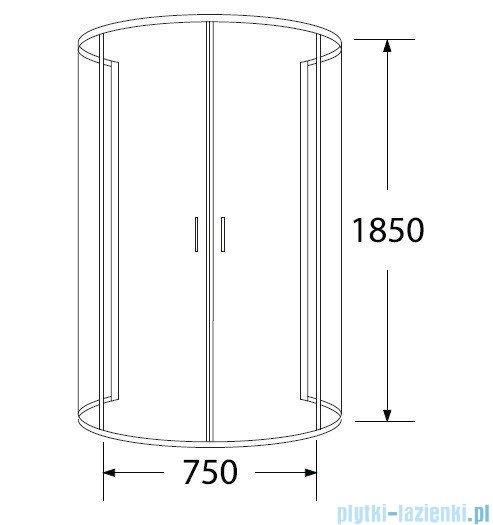 Sea Horse Sigma kabina natryskowa przyścienna półokrągła 100x80cm przejrzyste BK002/1/X