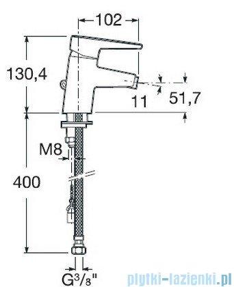 Roca Esmai Bateria bidetowa 1-uchwytowa sztorcowa A5A6131C00