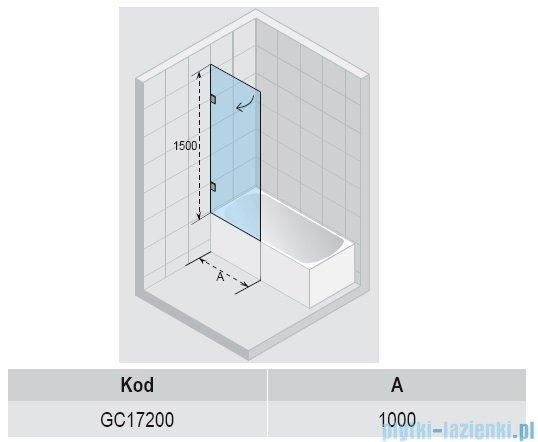 Riho Scandic S107 parawan nawannowy 100x150 cm GC17200