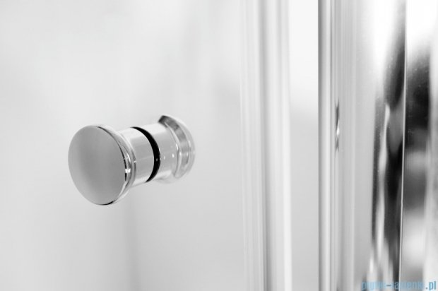 Besco Sinco Due drzwi prysznicowe dwuskrzydłowe 80x195 przejrzyste DSD-80