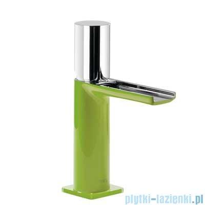 Tres Loft Colors Bateria umywalkowa z korkiem automatycznym wylewka kaskada otwarta zielony 200.110.02.VE.D