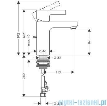 Hansgrohe Metris S Jednouchwytowa bateria umywalkowa DN15 bez kompletu odpływowego 31068000